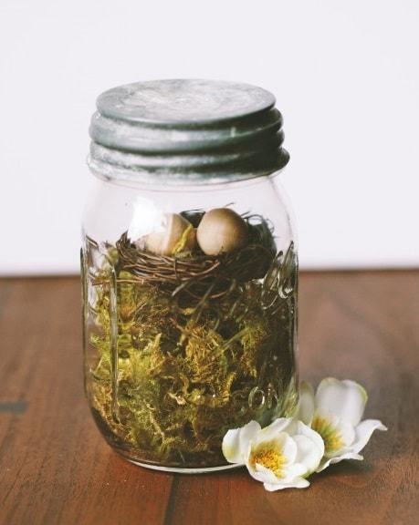 Easter Mason Jar Ideas: Easter Mason Jar Nest