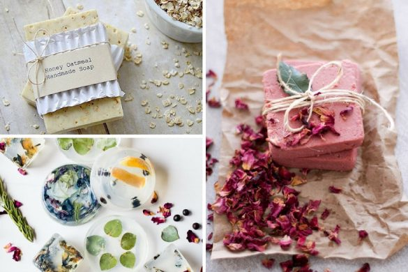 A collage of images of Homemade Soap Recipes