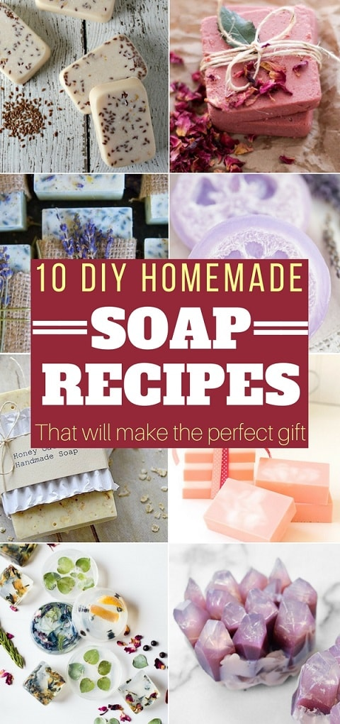 An amazing collection of easy DIY Homemade Soap Recipes. If you love making homemade soap, you will love these! #soap #homemadesoap #diysoap #handmadesoap #naturalsoap #diy