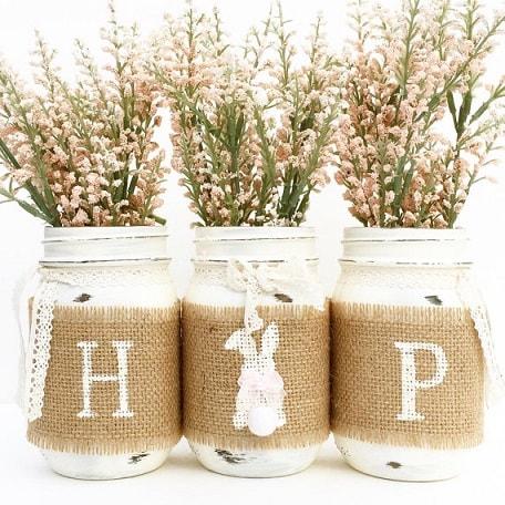 Easter Mason Jar Ideas: Hop Mason Jar Set