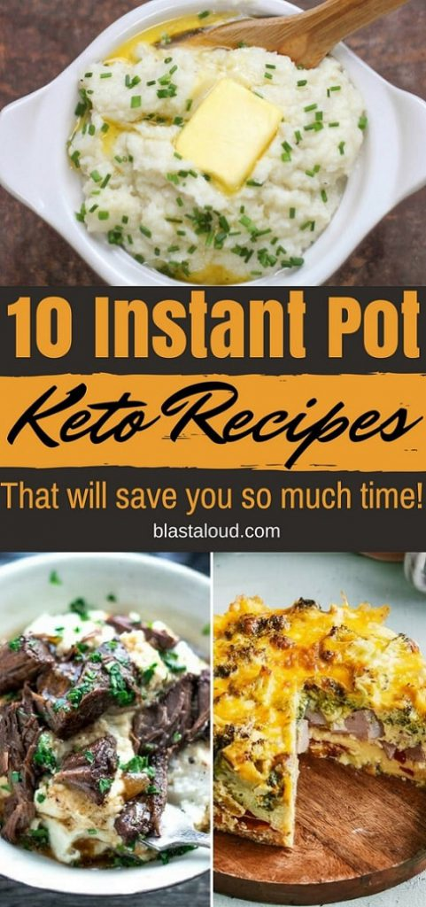 A collage of images of Instant Pot Keto Recipes with text overlay