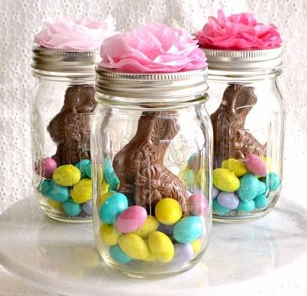 Easter Mason Jar Ideas: Mason Jar Easter Baskets