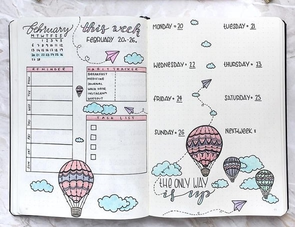 Bullet Journal Ideas: Weekly Layout