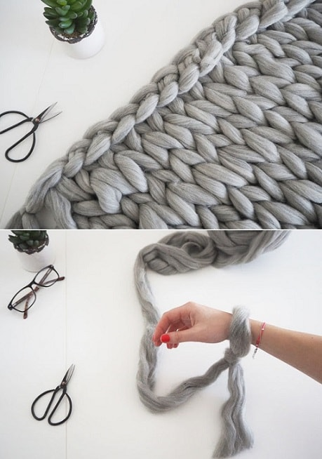 DIY Gifts: Arm Knit Chunky Blanket