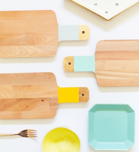 DIY Gifts: Colorblock Cutting Boards
