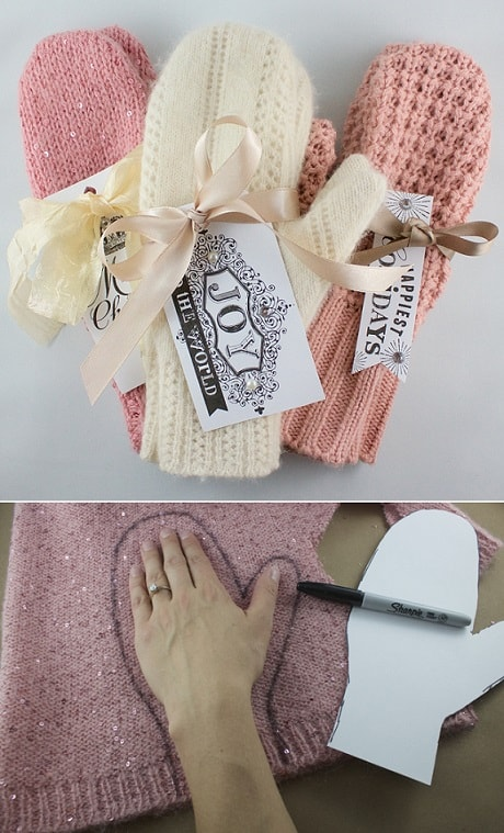 DIY Gifts: DIY Sweater Mittens 1