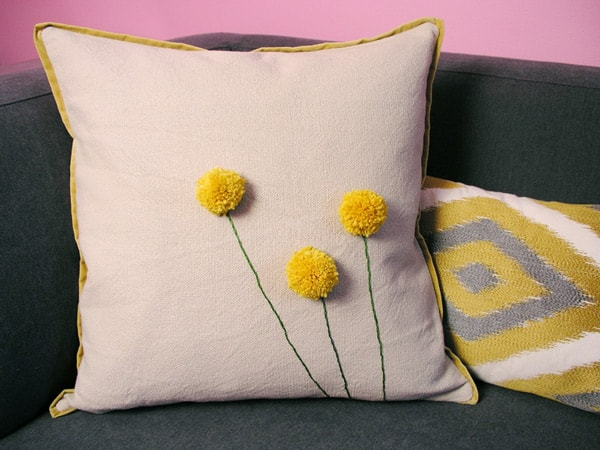 DIY Gifts: Flower Throw Pillow