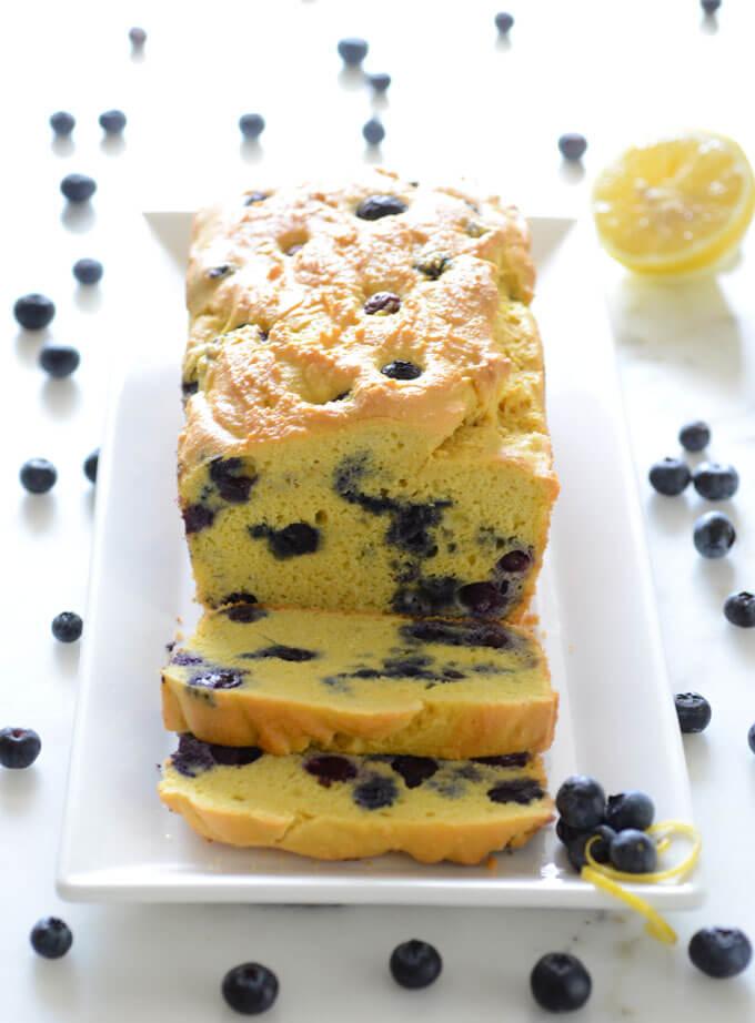Keto Bread Recipes: Keto Blueberry Lemon Bread