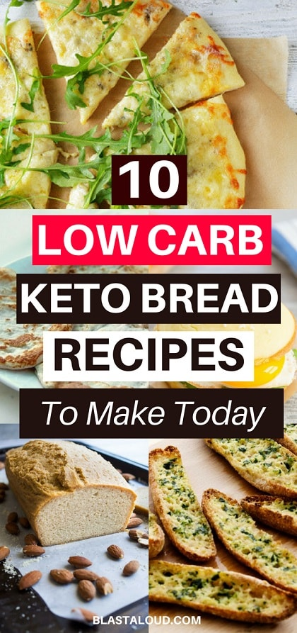 With these low carb keto bread recipes, you can stay in ketosis and still enjoy delicious bread. These keto breads are easy to make, healthy and delicious! #keto #ketobread #ketobreadrecipes #ketosis #lowcarb