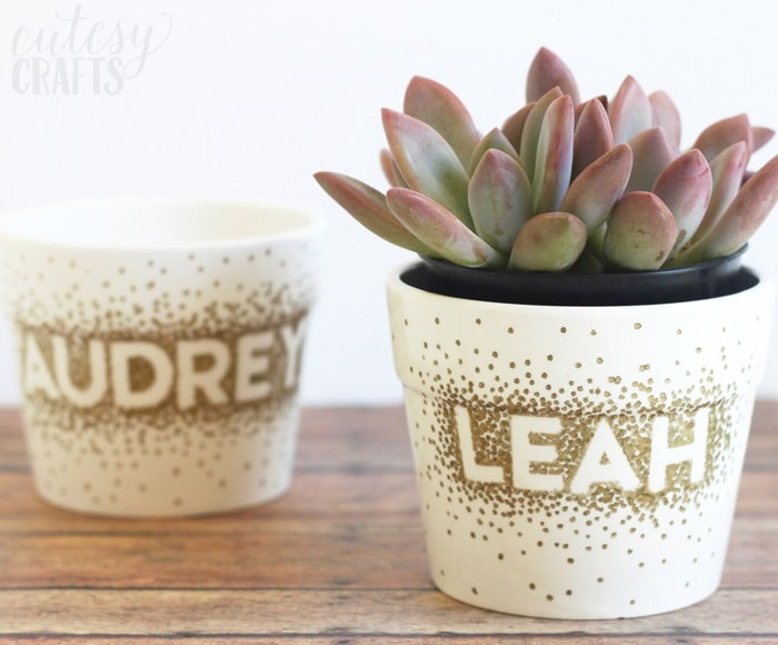 DIY Gifts: Sharpie Dot DIY Flower Pots
