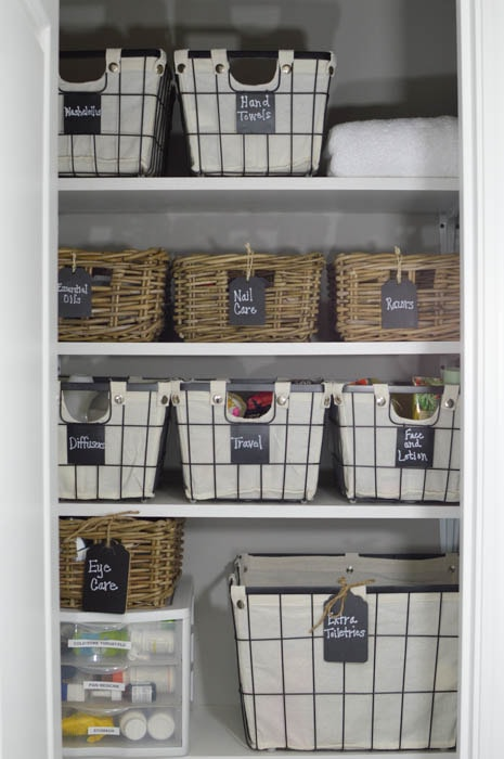 Linen Closet Organization Ideas: Add labels