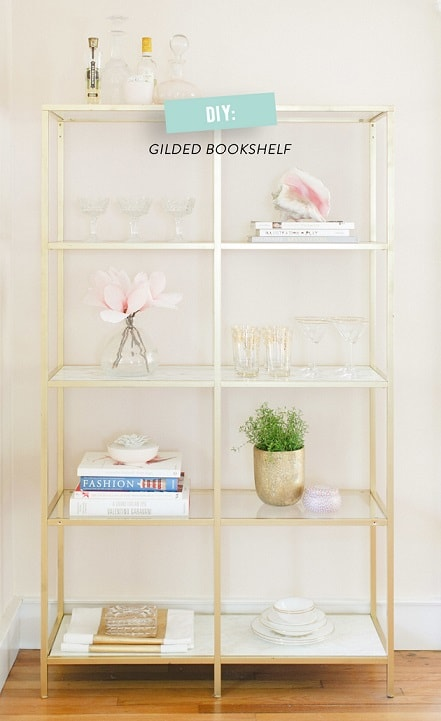 DIY IKEA Hacks: DIY Golden Shelves