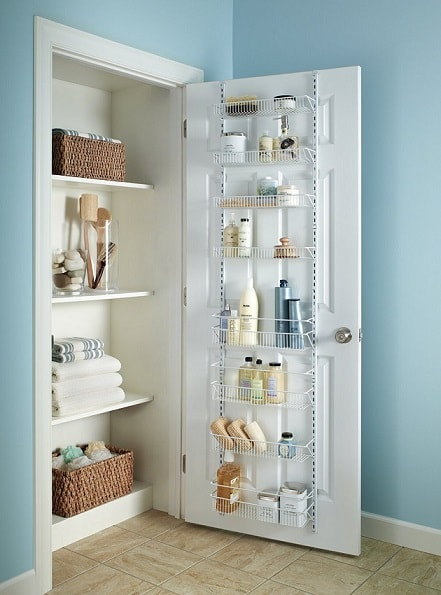 Linen Closet Organization Ideas: Door Rack