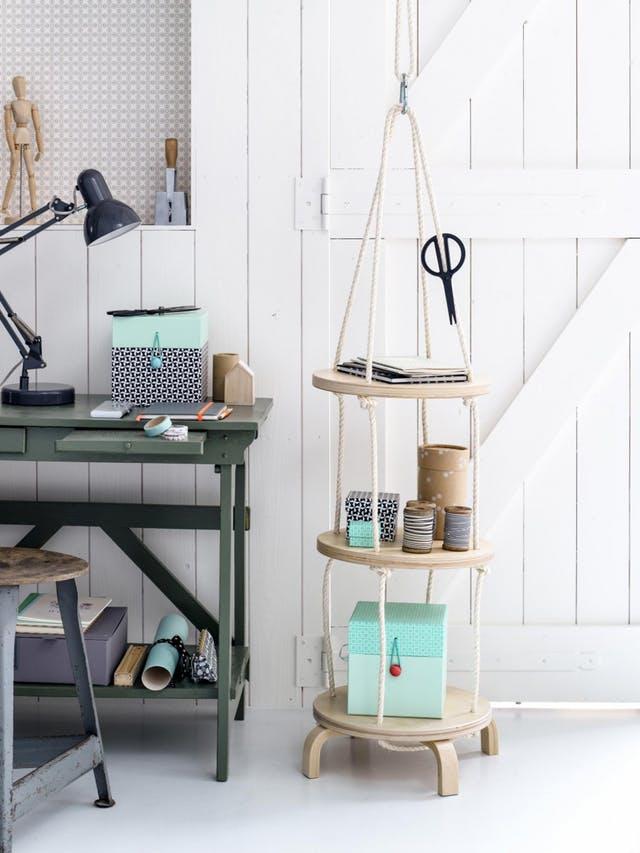 DIY IKEA Hacks: IKEA Frosta Stool Hanging Shelf
