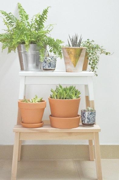 DIY IKEA Hacks: IKEA Stepstool Plant Stand