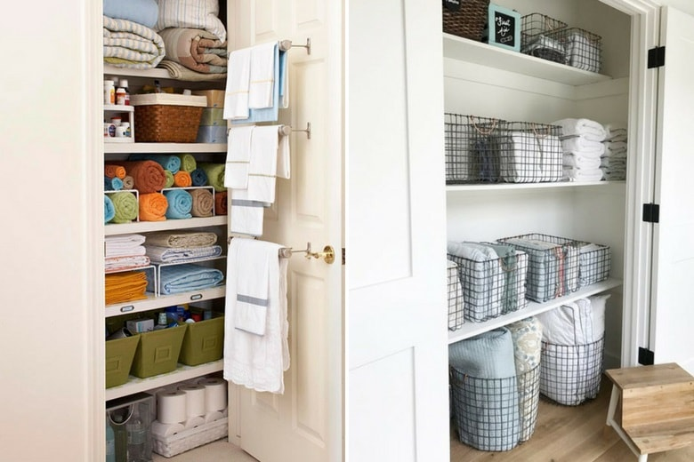 Linen Closet Organization Ideas-min