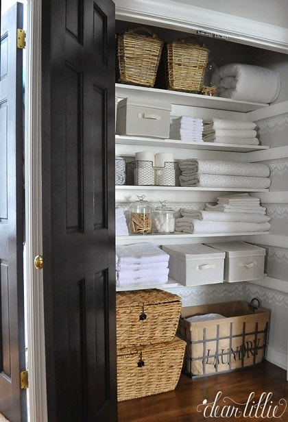 Linen Closet Organization Ideas: Organize with Baskets
