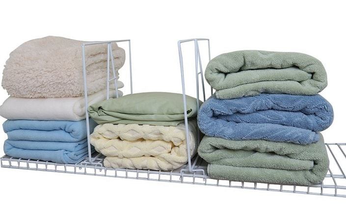 Linen Closet Organization Ideas: Shelf dividers