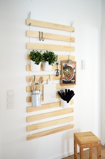 DIY IKEA Hacks: Slatted Frame Storage Hack