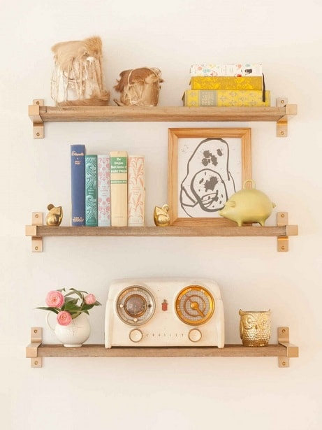 DIY IKEA Hacks: Spray Painted IKEA Bracket Shelves