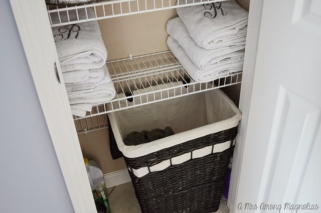 Linen Closet Organization Ideas: Use a hamper