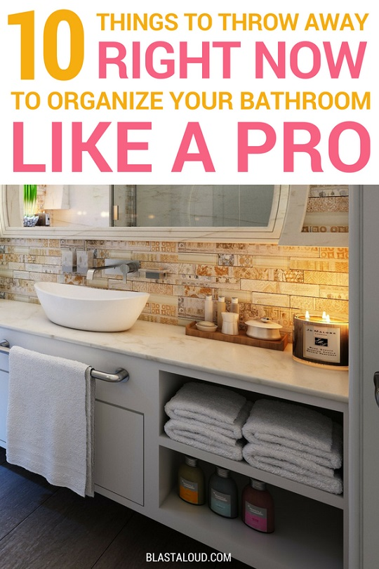 Bathroom organization and decluttering tips and hacks