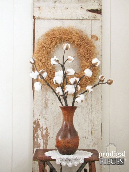 Easy DIY Farmhouse Decor: DIY Cotton Branches
