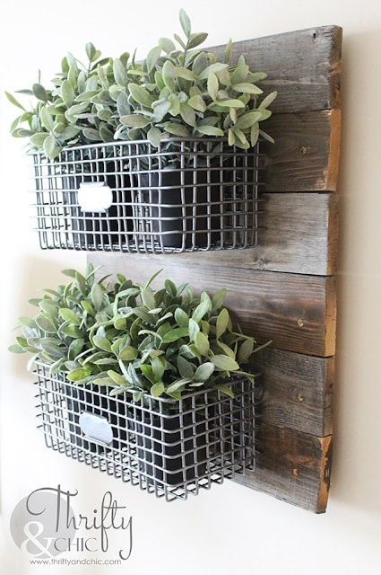 Easy DIY Farmhouse Decor: Hanging Wire Baskets