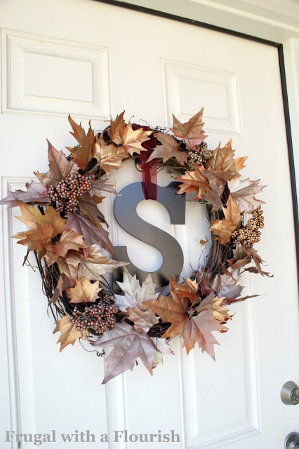 DIY Fall Wreath With Bling