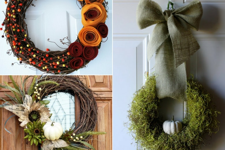 Diy Fall Wreath Ideas 15 Fall Wreaths That Will Brighten Up Your