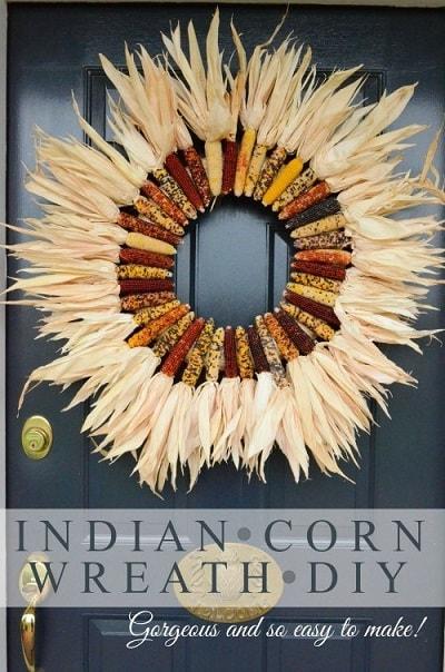 DIY Fall Wreath: Indian Corn Wreath