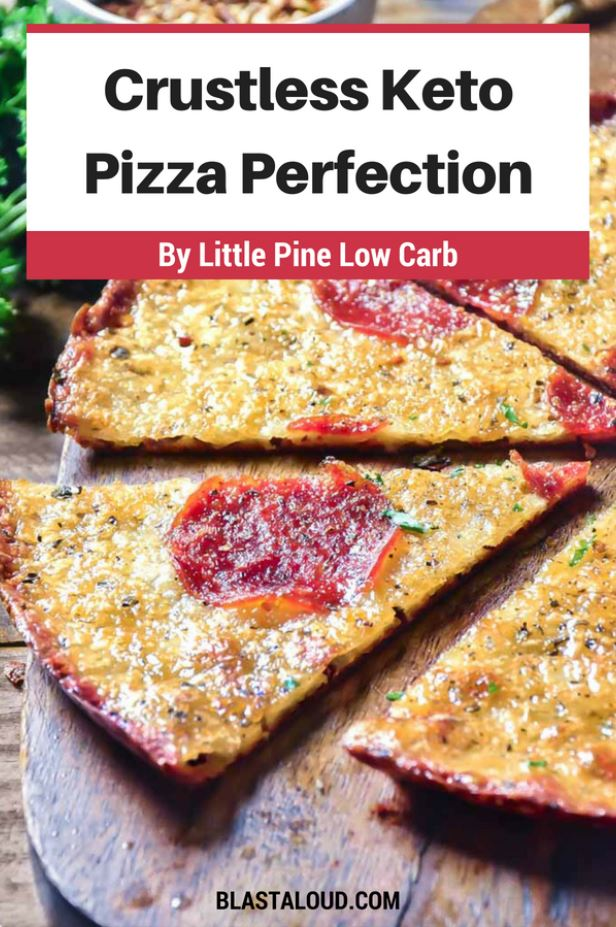 Crustless Pizza Perfection Keto Pizza