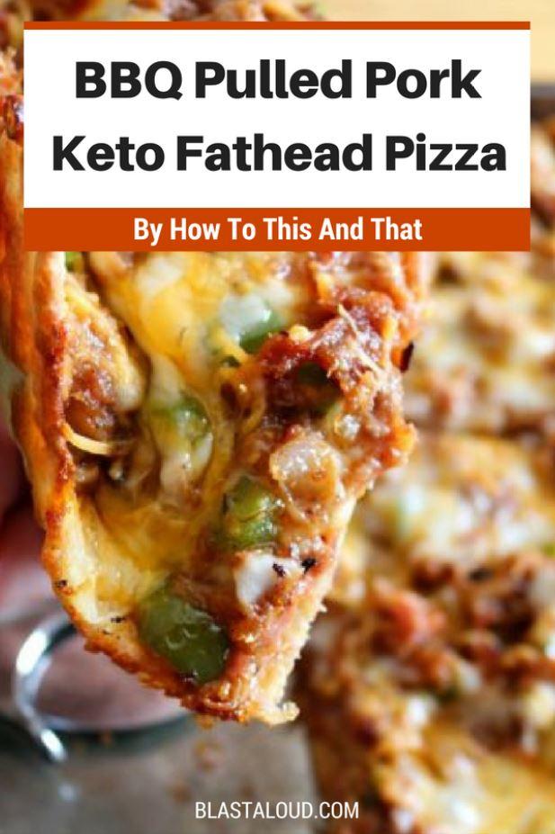 BBQ Pulled Pork Keto Fathead Pizza