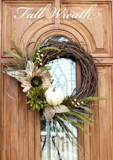 DIY Fall Wreath: Nature Fall Wreath