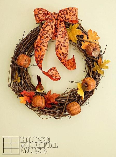 DIY Fall Wreath: Rustic Fall Wreath