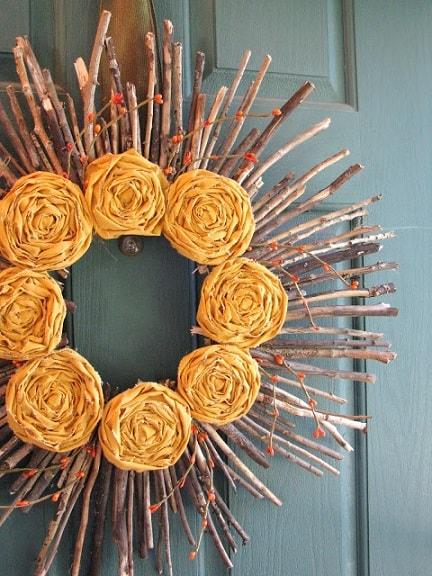 DIY Fall Wreath: Sunshine Wreath