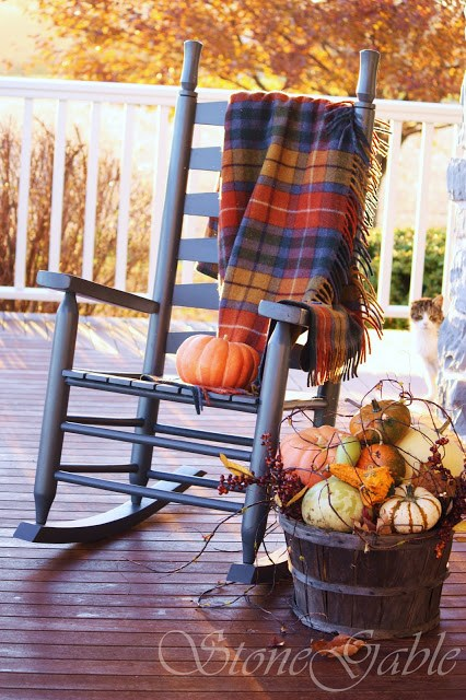 DIY Fall Porch Decorating Ideas: Add a Rocking Chair