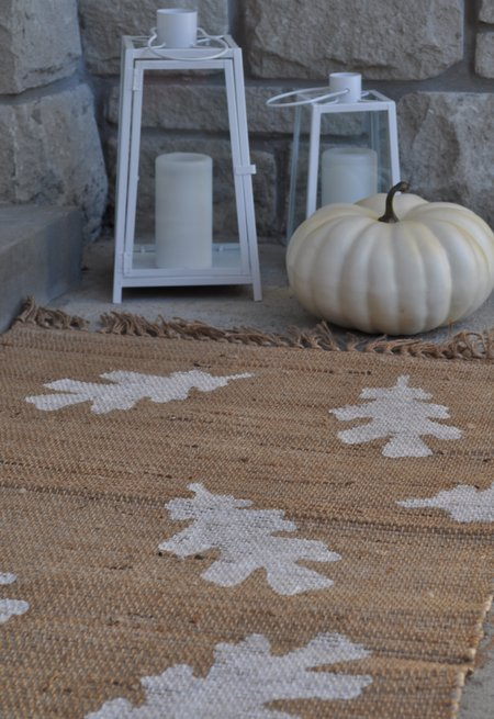 DIY Fall Porch Decorating Ideas: DIY Fall Doormat