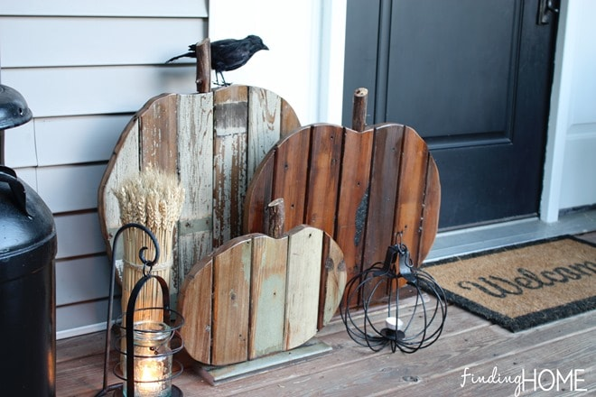 DIY Fall Porch Decorating Ideas: Diy Reclaimed Wood Pumpkins
