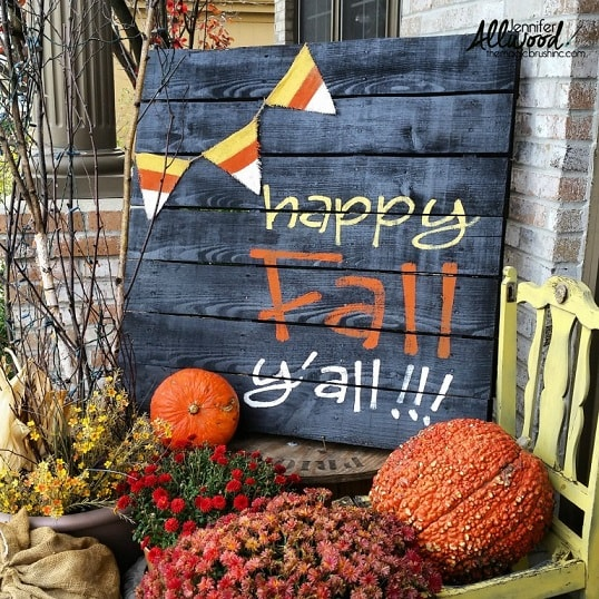 DIY Fall Porch Decorating Ideas: Fall Pallet