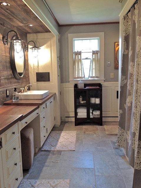 Bathroom remodel ideas: Farmhouse Bathroom Remodel after