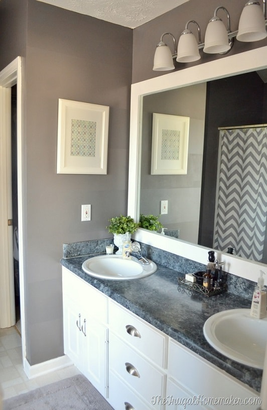 Bathroom remodel ideas: Framed Mirror and Repaint 2