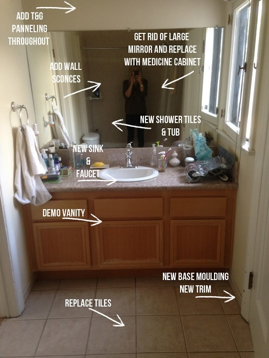 Bathroom remodel ideas: Guest Bathroom Remodel before