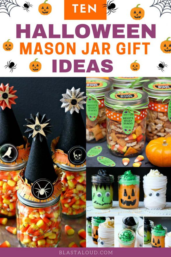 Halloween mason jar gift ideas