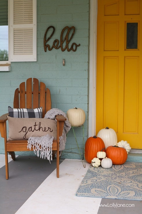 DIY Fall Porch Decorating Ideas: Minimal Fall Porch Furniture