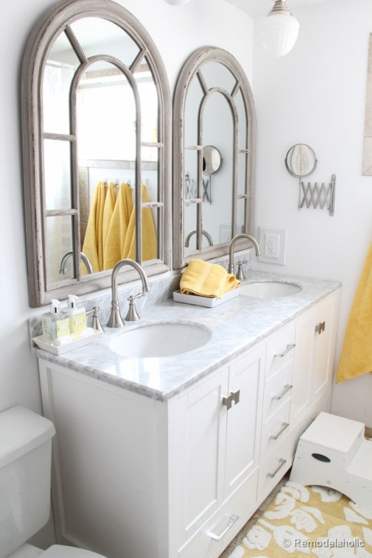 Bathroom remodel ideas: Single Sink To Double Sink after