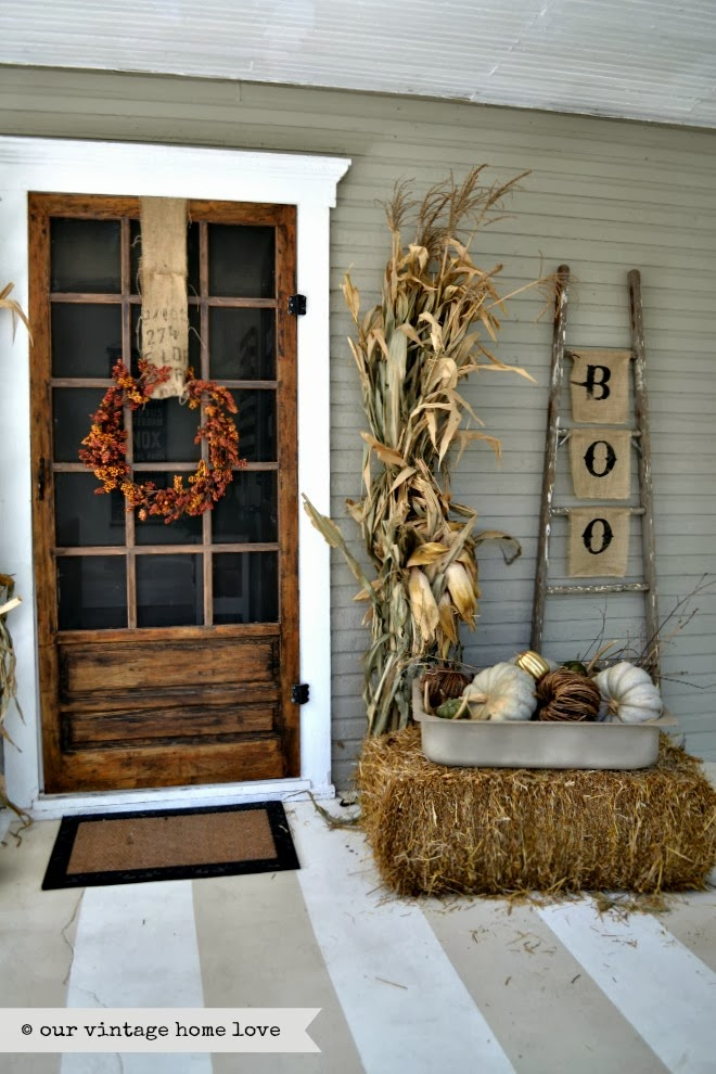 DIY Fall Porch Decorating Ideas: Vintage Fall Porch