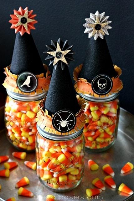 Halloween mason jar gift ideas: Witch Vitamins