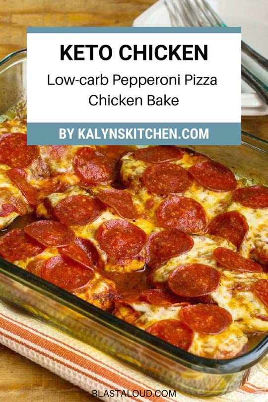 Keto Chicken Dinner Recipes: Low-carb Pepperoni Pizza Chicken Bake