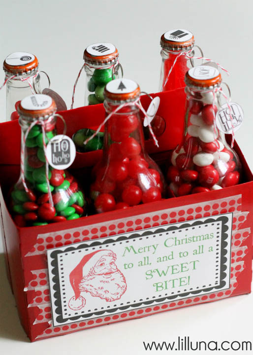 DIY Gift Baskets For Men: Candy Pop Bottle Gift Set